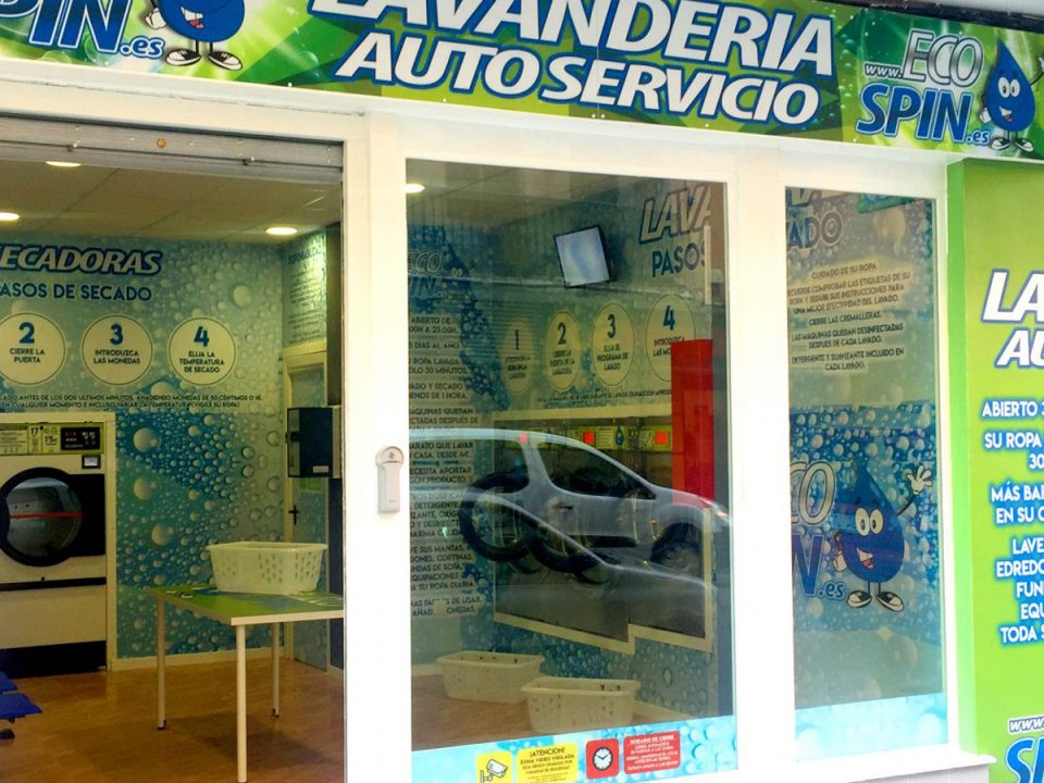 Fachada lavandería autoservicio EcoSpin.es