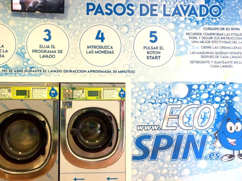 Zona lavado lavandería autoservicio EcoSpin.es