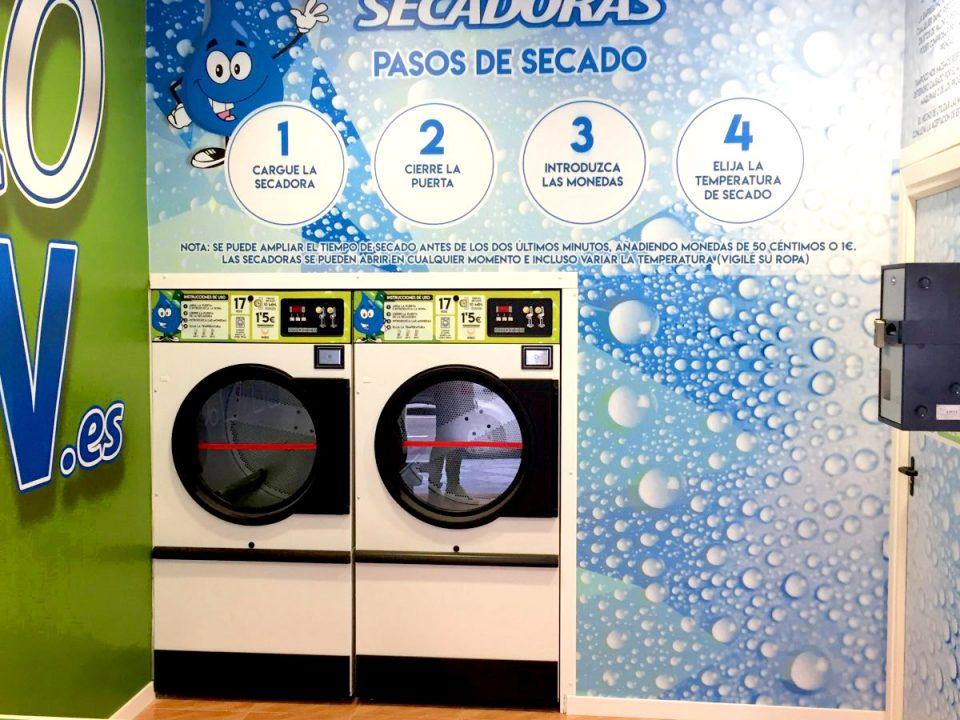 Zona secadoras lavandería autoservicio EcoSpin.es